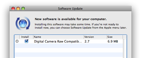 อัพเดท digital camera raw update 2.7