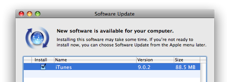 update iTunes 9.0.2