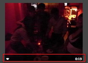 ตัวอย่างไฟล์วิดีโอคลิปใน iphoto