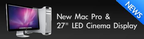 mac pro ใหม่ กับ 27นิ้ว LED Cinema display ใหม่