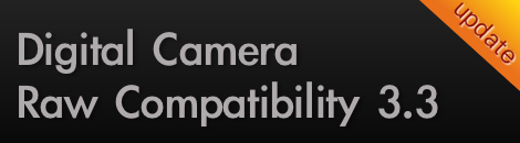 update digital camera raw compatibility 3.3