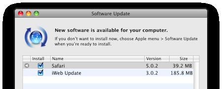 update iweb 3.0.2 กับ safari 5.0.2